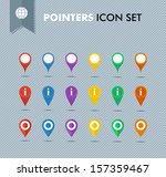 colorful travel pointer icon... | Shutterstock .eps vector #157359467