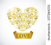 love design  over gray... | Shutterstock .eps vector #157364231