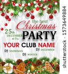 christmas party invitation...   Shutterstock .eps vector #1573649884