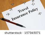 Peace of mind comes with the purchase of travel insurance. - stock photo