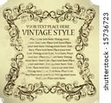vintage frame   Shutterstock .eps vector #15736723