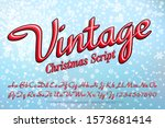 a vintage style christmas... | Shutterstock .eps vector #1573681414