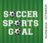 soccer design over green... | Shutterstock .eps vector #157368524