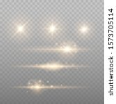 set of gold sparks isolated.... | Shutterstock .eps vector #1573705114