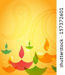 beautiful colorful diwali... | Shutterstock .eps vector #157372601