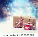 small handmade gift boxes in... | Shutterstock . vector #157375307