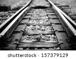 Close Up Railway Tracks