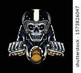 skull biker rider horror... | Shutterstock .eps vector #1573826047