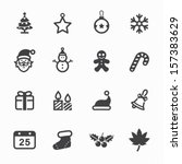 christmas icons with white... | Shutterstock .eps vector #157383629