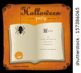 classic halloween graphic... | Shutterstock .eps vector #157386065