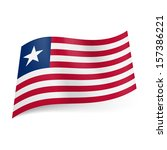 national flag of liberia  red... | Shutterstock .eps vector #157386221