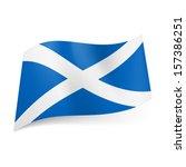 national flag of scotland ...