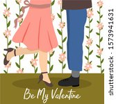 valentine greeting card with...   Shutterstock .eps vector #1573941631