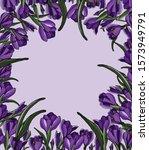 springtime floral frame with... | Shutterstock .eps vector #1573949791