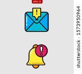 notification set icons stock...