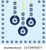 vector background of evil eye   ... | Shutterstock .eps vector #1573995877