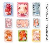 big vector set with meat ... | Shutterstock .eps vector #1574006917