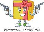 yellow gift box cartoon... | Shutterstock .eps vector #1574022931