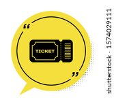 black ticket icon isolated on... | Shutterstock .eps vector #1574029111