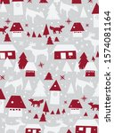 merry christmas pattern for... | Shutterstock .eps vector #1574081164