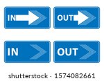in and out signs isolated on... | Shutterstock .eps vector #1574082661