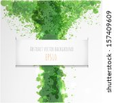 abstract background. green... | Shutterstock .eps vector #157409609