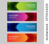 vector abstract design banner... | Shutterstock .eps vector #1574114224