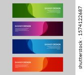 vector abstract design banner... | Shutterstock .eps vector #1574122687