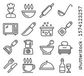 cooking and kitchen icons set... | Shutterstock .eps vector #1574123257