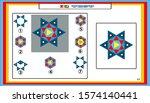 iq test. choose correct answer. ... | Shutterstock .eps vector #1574140441