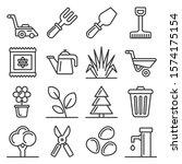 gardening icons set on white... | Shutterstock .eps vector #1574175154