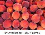Fresh Organic Peaches  Heap Of...