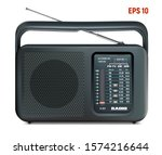 old radio  portable receiver of ...   Shutterstock .eps vector #1574216644