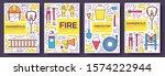 flat firefighter uniform vector ... | Shutterstock .eps vector #1574222944