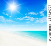 beach background | Shutterstock . vector #157424777