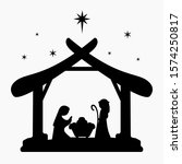 vector nativity scene christmas ... | Shutterstock .eps vector #1574250817