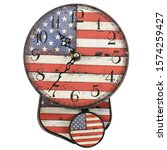 usa clock isolated on white... | Shutterstock . vector #1574259427
