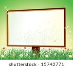 blank billboard on grass over...