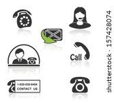 Vector Contact  Call Icons  ...