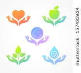 set from transparent color... | Shutterstock .eps vector #157432634