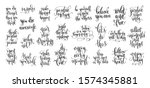set of 25 hand lettering... | Shutterstock . vector #1574345881
