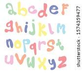 vector alphabet. a until z.   Shutterstock .eps vector #1574359477