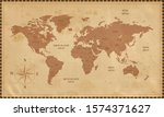 old world map in vintage style. ... | Shutterstock .eps vector #1574371627