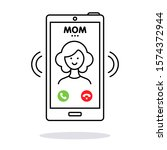 Incoming Call From Mom. Female...