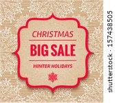 Christmas Sale Tag. Vector...