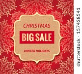 christmas sale tag. vector... | Shutterstock .eps vector #157438541