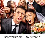 Bride And Groom In Photo Booth...