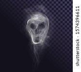 smoke skull on transparent... | Shutterstock .eps vector #1574396611