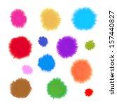 watercolor splashes   Shutterstock . vector #157440827