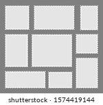 blank set postage stamps... | Shutterstock .eps vector #1574419144